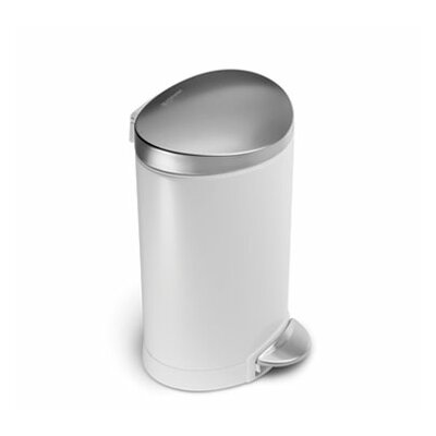simplehuman 1.6 Gallon Fingerprint-Proof Mini Semi Round Trash Can