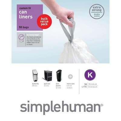 simplehuman Trash Can Liner K (50 Count)