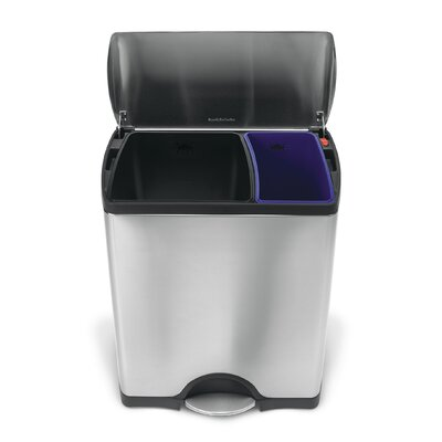 simplehuman 12 Gallon Multi Compartment Recycling Bin