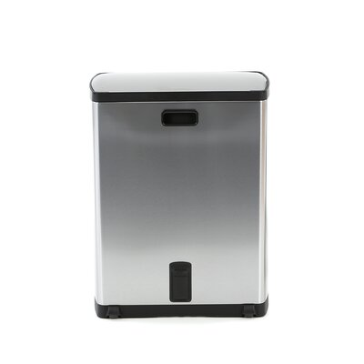 simplehuman Recycler Trash Can in Brushed Stainless Steel