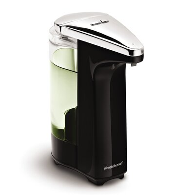simplehuman Compact Sensor Pump for Soap or Sanitizer in Black