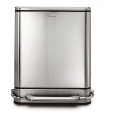 simplehuman 48-Liter Steel Bar Recycler