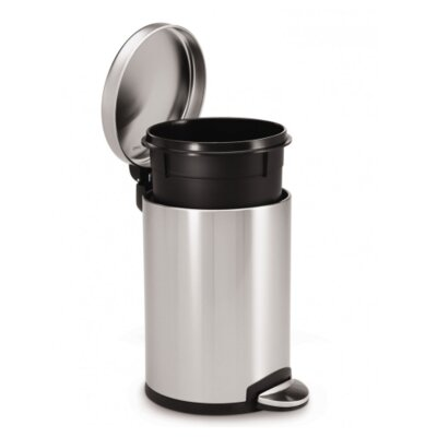 simplehuman 4.5-Liter Round Stainless Steel Step Can