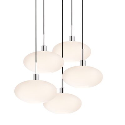 Sonneman 5 Light Grand Oval Pendant
