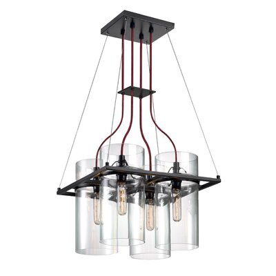Square Ring 4 Light Kitchen Island Pendant