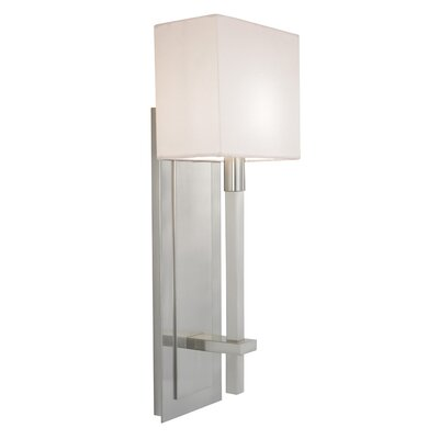 Sonneman Montana One Light Wall Sconce in Satin Nickel