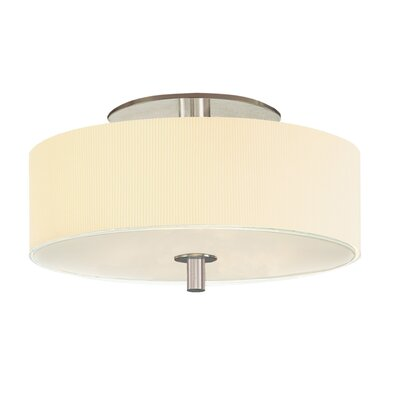Sonneman Sparte Three Light Semi Flush Mount