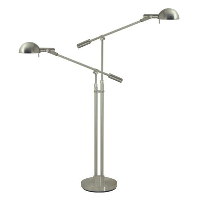 Sonneman Dome Double Boom Arm Floor Lamp