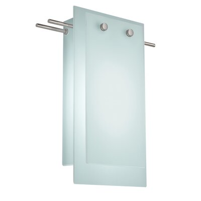 Sonneman Suspended Glass 2 Light Wall Sconce