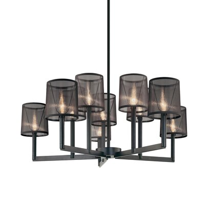 Sonneman Silhouette 10 Light Chandelier