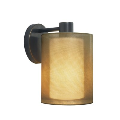 Sonneman Puri One Light Wall Sconce in Black Brass