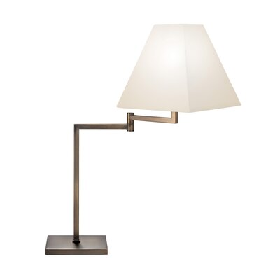 "Sonneman Swing Arm 26.5"" H Table Lamp with Square Shade"