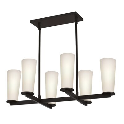 Sonneman High Line 6 Light Rectangle Pendant