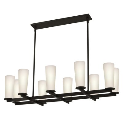 Sonneman High Line 10 Light Rectangle Pendant