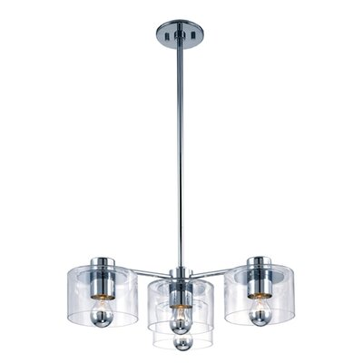 Transparence 4 Light Cluster Foyer Pendant