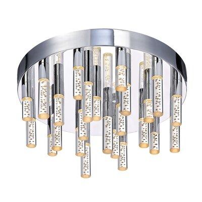 Sonneman Champagne Staccato 24 Light Flush Mount