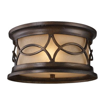 Elk Lighting Burlington Gate 2 Light Outdoor Flush Mount