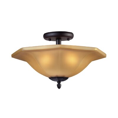 Elk Lighting 2 Light Semi Flush Mount