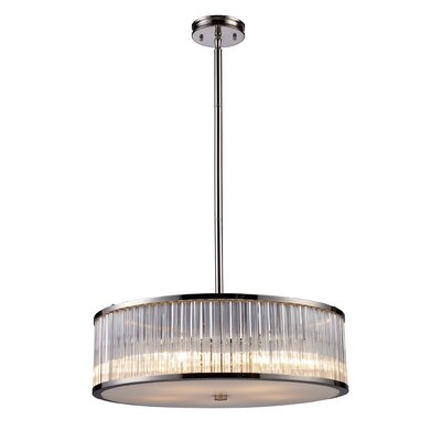 Braxton 5 Light Drum Pendant