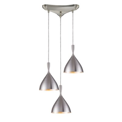 Elk Lighting Spun Aluminum 3 Light Pendant