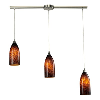 Verona 3 Light Linear Pendant