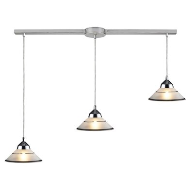 Elk Lighting Refraction 3 Light Linear Pendant