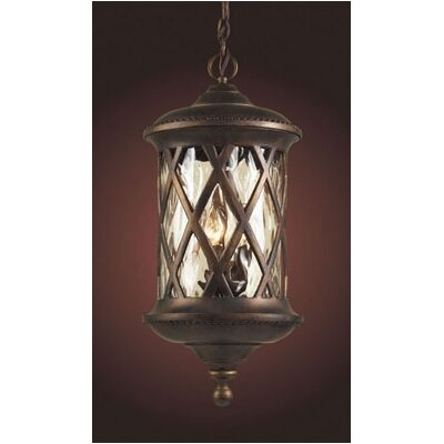 Elk Lighting Barrington Gate 3 Light Outdoor Hanging Lantern