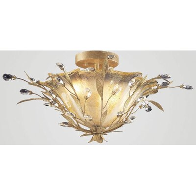 Elk Lighting Circeo Vetro Semi Flush Mount