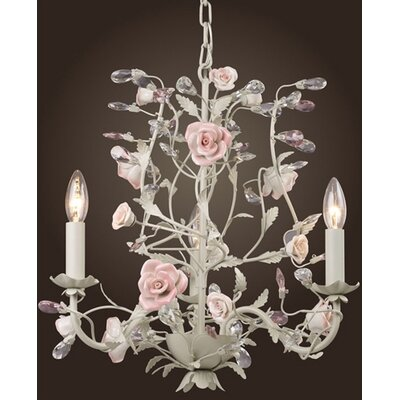 Heritage 3 Light Mini Candle Chandelier