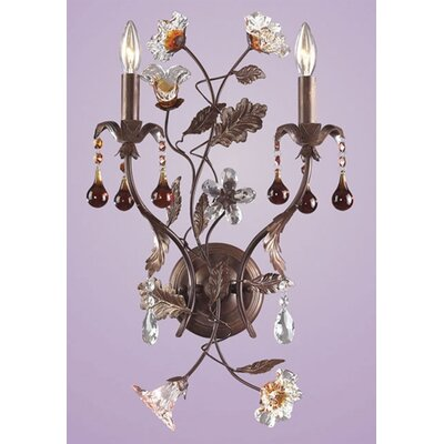 Elk Lighting Cristallo Fiore 2 Light Candle Wall Sconce