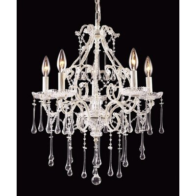 Elk Lighting Opulence Candle 5 Light Chandelier