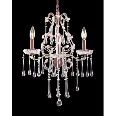 Elk Lighting Opulence 3 Light Mini Candle Chandelier