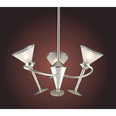 Martini Glass 3 Light Mini Chandelier