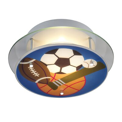 Elk Lighting Novelty Sports Theme Semi Flush Mount