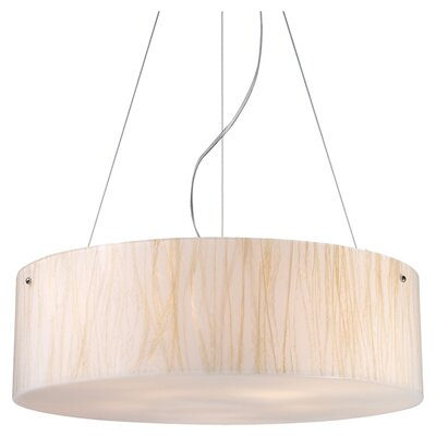 Elk Lighting Modern Organics 5 Light Drum Pendant