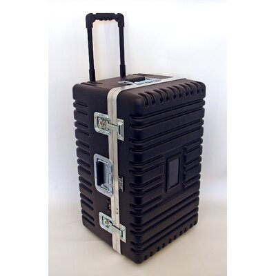 Platt Heavy-Duty ATA Case with Wheels and Telescoping Handle in Black: 16.25 x 27.5 x 15.25