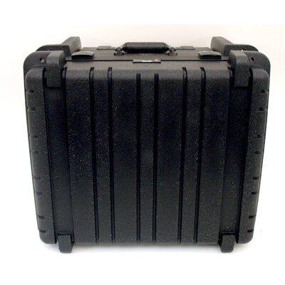 Rotational Molded Tool Case with Wheels and Telescoping Handle in Black: 17.25 x 19.5 x ...