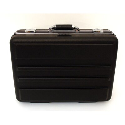 Deluxe Polyethylene Tool Case with Chrome Hardware in Black: 13 x 18 x 6