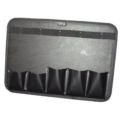 Platt Pallet with 5 Pockets in Black: 17.25 x 12.25