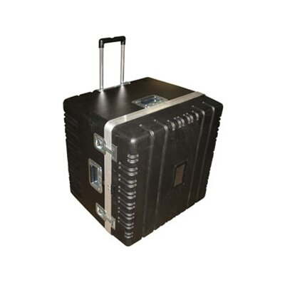 Heavy-Duty ATA Case with Wheels and Telescoping Handle in Black: 24.75 x 25.25 x 23 ...