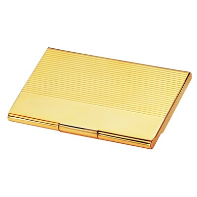 Chass Gold Business Card Case