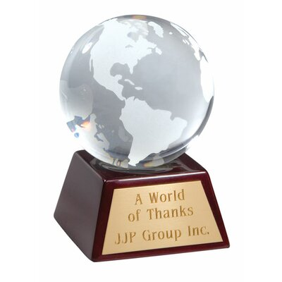 Chass Clear Optical Glass Globe Award