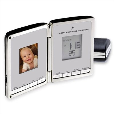 "Chass ""Digi Companion"" Global Sync Atomic Clock with Digital Photo Frame"