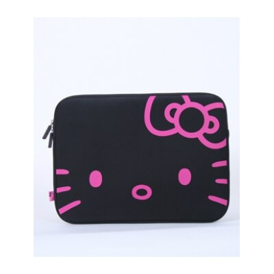 Hello Kitty Face Laptop Case in Black and Pink