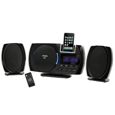 Jensen Wall Mountable Docking Music System