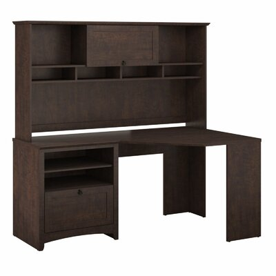 Bush Industries Buena Vista Corner Desk with Optional Hutch