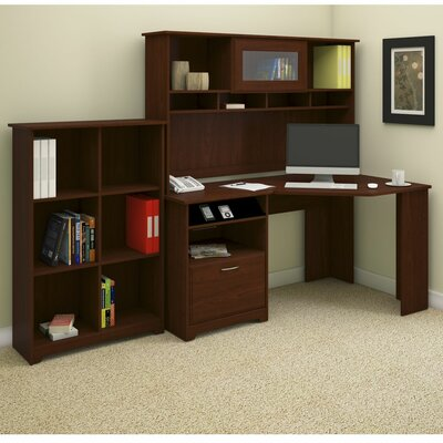 Bush Industries Cabot Corner Desk  with Hutch and Bookcase