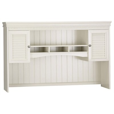 Bush Industries Fairview Hutch for L Desk in Antique White