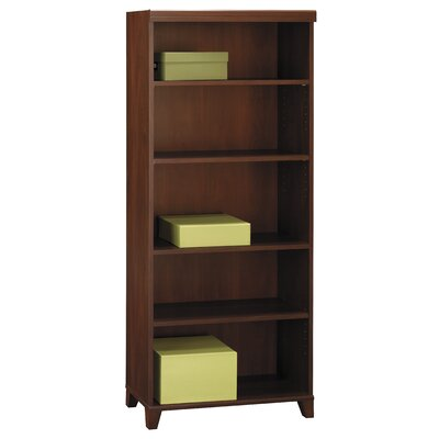 Bush Industries Tuxedo Bookcase in Rich Hansen Cherry