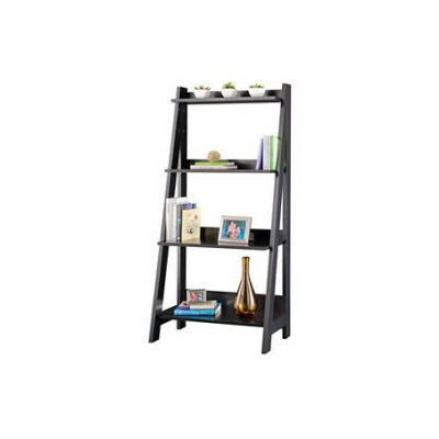 Bush Industries Alamosa Ladder Bookcase in Classic Black